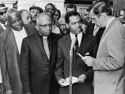 Walter Fauntroy and Bishop Williams Protest 1962 Arrest of Martin Luther King