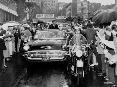 Senator John Kennedy Campaigning in Yonkers, New York, Oct. 16, 1960