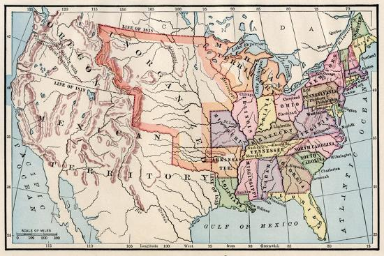 1830 Us Map.Map Of The United States In 1830 Giclee Print At Allposters Com