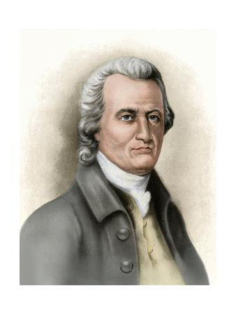Oliver Wolcott, a Signer of the Declaration of Independence from Connecticut