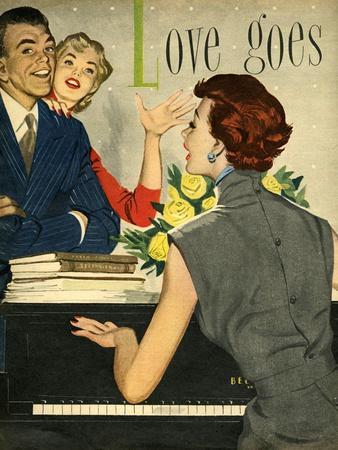1950s UK Playing Pianos Magazine Plate
