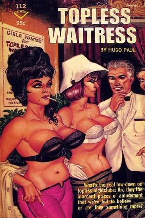 1960s USA Topless Waitress Book Cover