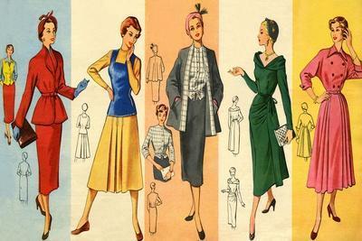 1950s UK Dress Patterns Magazine Plate
