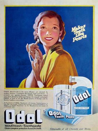 1920s UK Odol Magazine Advertisement