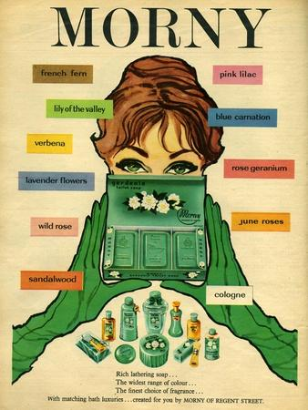 1960s UK Morny Magazine Advertisement