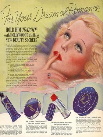 1930s USA Hollywood Magazine Advertisement