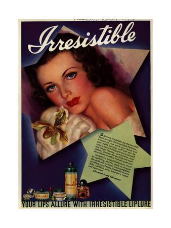 1930s USA Irresitible Magazine Advertisement