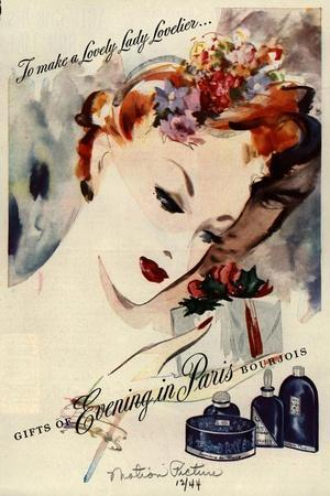 1940s USA Bourjois Magazine Advertisement