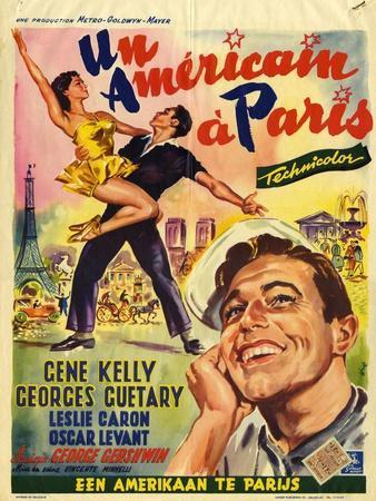 An American In Paris, Film Poster, 1950s