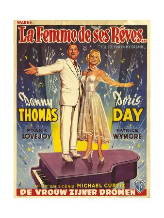 1950s France I'll See You In My Dreams Film Poster