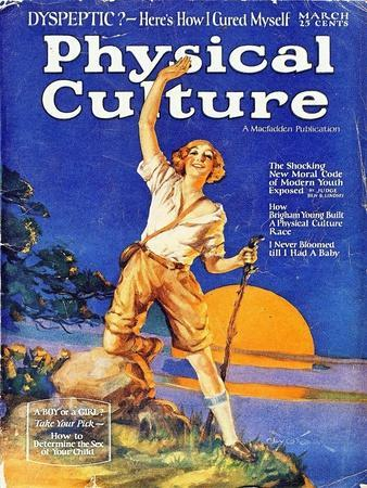 1930s USA Physical Culture Magazine Cover