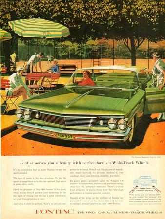 1960s USA Pontiac Magazine Advertisement