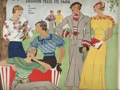 1920s USA Fashion Magazine Plate