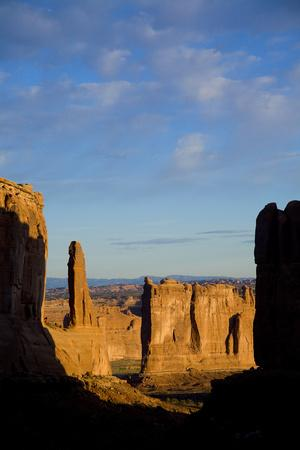 A Scenic View of Arches National Park
