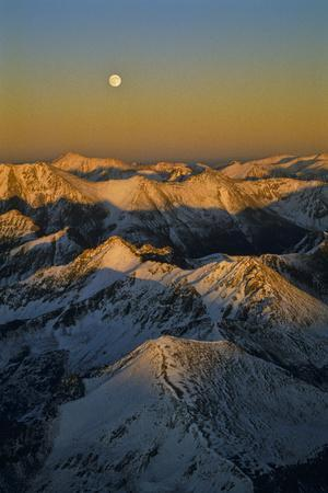 Moonrise Over the Colorado Rocky Mountains Near the Continental Divide