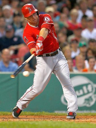 Boston, MA - June 8: Boston Red Sox v Los Angeles Angels of Anaheim, Mike Trout