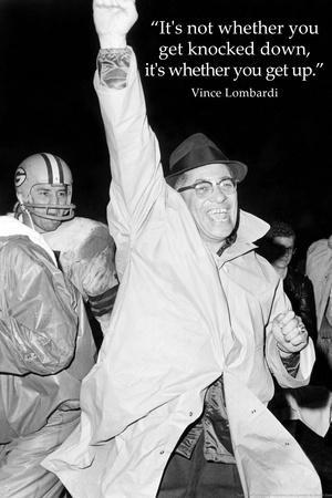 Vince Lombardi Get Back Up Quote Sports Archival