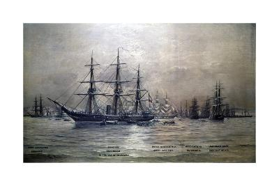 Confederate States Cruiser Shenandoah at Melbourne, Australia, 1865 by Christian Poulsen