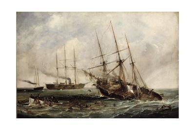Destruction of Confederate Steamer Alabama by Us Ironclad Kearsarge June 19, 1864 by Hayes