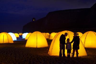 Peace Camp Art Installation by the Mussenden Temple in Derry