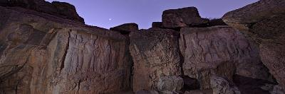 Venus Shines at Morning Twilight Over a Large Ancient Persian Bas-relief
