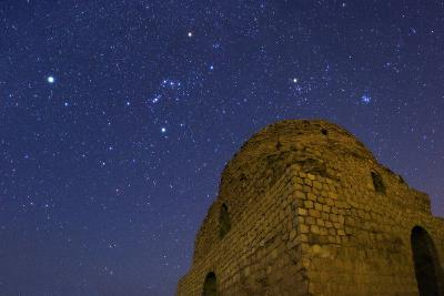 Sirius, Constellations Orion, Taurus and the Pleiades Over Sasan Palace