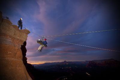 Three Men on a Rope Rescue in Sedona, Arizona