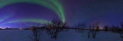 Aurora Borealis, with Jupiter and Venus in a Rare Close Conjunction