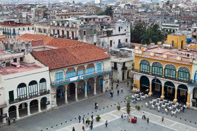 An Aerial View of Plaza Vieja in Old Havana