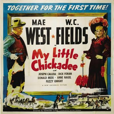 """The Lady And the Bandit, 1940 """"My Little Chickadee"""" Directed by Edward F. Cline"""