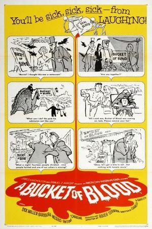 """The Living Dead, 1959, """"A Bucket of Blood"""" Directed by Roger Corman"""