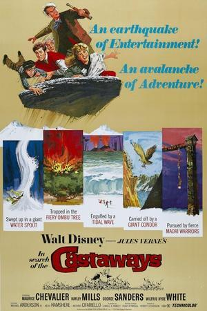 """Castaways, 1962, """"In Search of the Castaways"""" Directed by Robert Stevenson"""