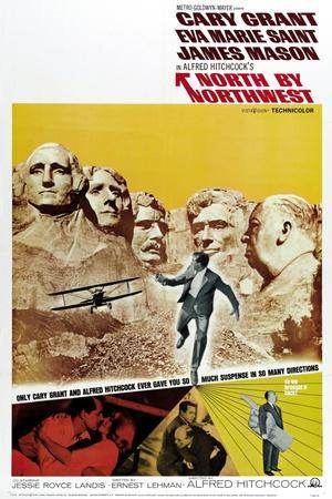 """Breathless, 1959, """"North by Northwest"""" Directed by Alfred Hitchcock"""