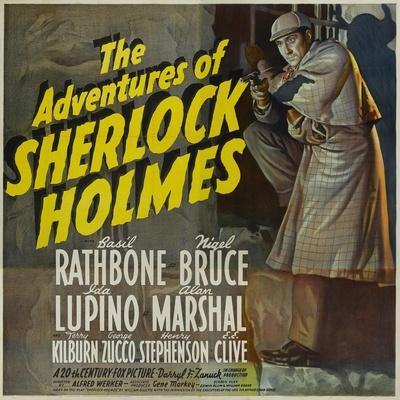 "Sherlock Holmes, 1939, ""The Adventures of Sherlock Holmes"" Directed by Alfred L. Werker"