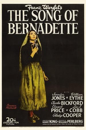 "Franz Werfel's the Song of Bernadette, 1943, ""The Song of Bernadette"" Directed by Henry King"