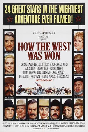 How the West Was Won, 1962, by George Marshall, John Ford, Richard Thorpe, Henry Hathaway
