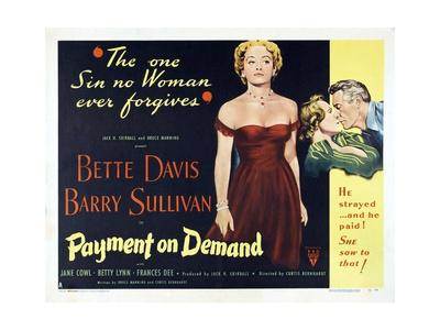 "The Story of a Divorce, 1951, ""Payment On Demand"" Directed by Curtis Bernhardt"