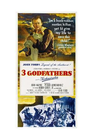 "Three Godfathers, 1948, ""3 Godfathers"" Directed by John Ford"