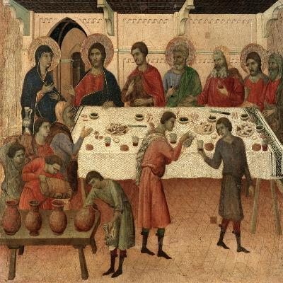 Maestà - Public Life of Christ: the Wedding Feast of Cana, 1308-1311