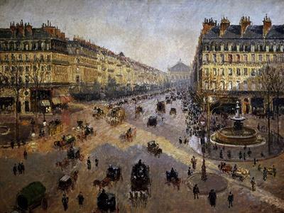 The Avenue De L'opera, Paris, Sunlight, Winter Morning, Ca. 1880