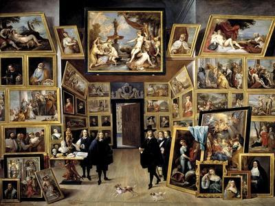 Archduke Leopoldo Guillermo At His Picture Gallery In Brussels, 1647-1651, Flemish School