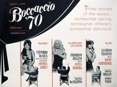 """""""Boccaccio '70"""", Mario Monicelli, Vittorio De Sica, Luchino Visconti, Directed by Federico Fellini"""