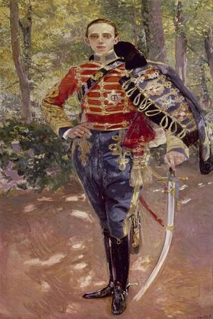 Portrait of King Alfonso Xiii Wearing the Uniform of the Hussars, 1907