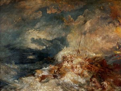 Fire At Sea, Ca. 1835