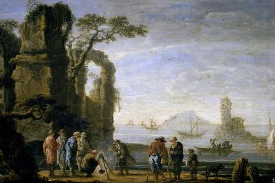 A Dock, 17th Century, Flemish School