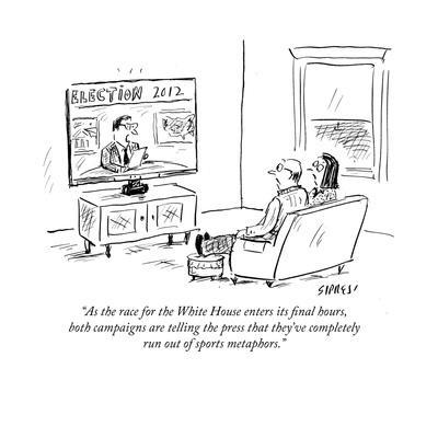 """""""As the race for the White House enters its final hours, both campaigns ar…"""" - Cartoon"""