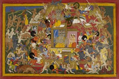 Battle Scene at Lanka