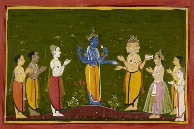The Gods Approach Vishnu
