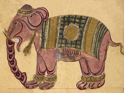 Elephant Wearing a Caparison