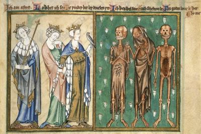 Three Youthful Kings Confronted by Three Skeletons